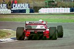 Michael Andretti - Mclaren MP4-8 during practice for the 1993 British Grand Prix (33645893286).jpg