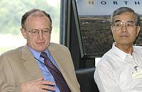 Michael Witherell and Yoji Totsuka 20030815 2.jpg