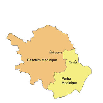 Partition of Midnapore - Purba and Paschim Medinipur districts on 1 January 2002