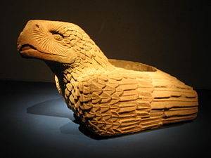 Cuauhxicalli - Image: Mighty carved stone eagle