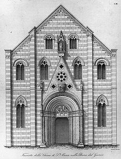 Santa Maria in Brera Church in Milan, Italy
