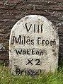 Milestone on B4058 Wotton Road - geograph.org.uk - 1096891.jpg