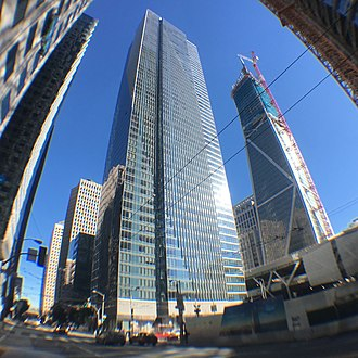 Millennium Tower (San Francisco) - Image: Millennium tower and construction in SF 03