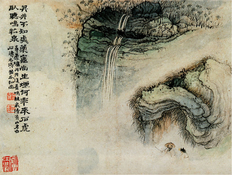 File:Mingxianquan and Hutouyan by Shitao.jpg