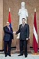 Ministru prezidents Valdis Dombrovskis tiekas ar Armēnijas parlamenta spīkeru Oviku Abraamjanu (Hovik Abrahamyan) (8955553781).jpg