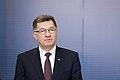 Ministru prezidents Valdis Dombrovskis tiekas ar Lietuvas premjerministru Aļģirdu Butkeviču (8367433498).jpg