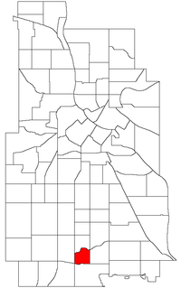 Location of Page within the U.S. city of Minneapolis