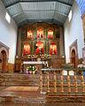 Mission San Juan Bautista (SJB, CA) - church interior, sanctuary decorated for Easter.jpg
