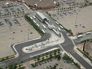Mississauga City Centre Transit Terminal aerial view, 2006.jpg