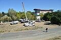 Mobilizing equipment near the Fairbairn Water Treatment Plant (10601901265).jpg