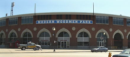 Modern Woodmen Park is home to the Quad Cities baseball team Modern Woodmen Park.jpg