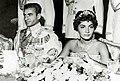 Mohammad Reza Shah in Shahnaz weeding 1957.jpg