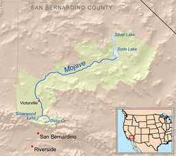 Map of the mojave river watershed
