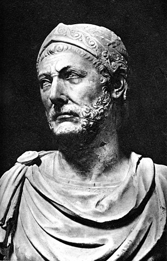 Hannibal - A marble bust, reputedly of Hannibal, originally found at the ancient city-state of Capua in Italy