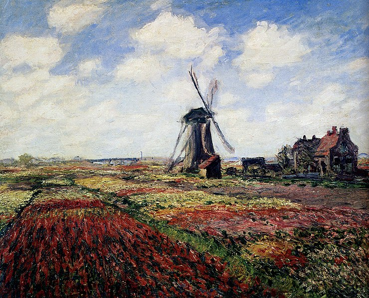 File:Monet Tulip Fields With The Rijnsburg Windmill 1886.jpg