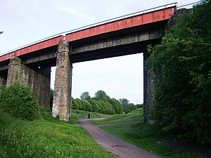 Caledonian main line - The Caledonian Viaduct, over the route of the Monkland Canal at Coatbridge