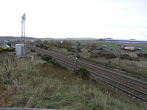 Glasgow, Paisley, Kilmarnock and Ayr Railway - The site of the closed Monkton station in 2007