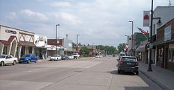 Union Street in downtown Mora in 2007