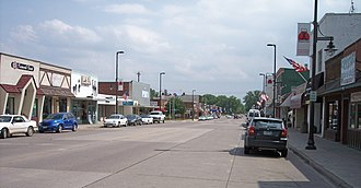 Mora, Minnesota - Union Street in downtown Mora in May 2007