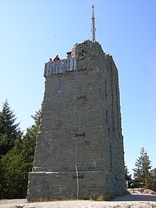 At the top of Mount Constitution sits a 53-foot sandstone tower, reinforced with 2 tons of steel, and measuring 18 x 28 feet at the base.