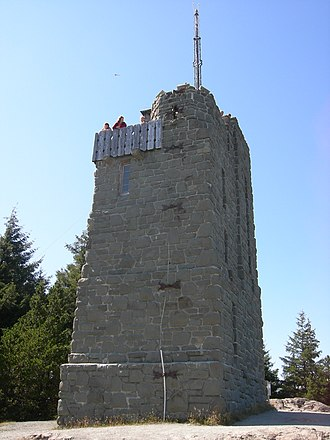 Mount Constitution - At the top of Mount Constitution sits a 53-foot sandstone tower, reinforced with 2 tons of steel, and measuring 18 x 28 feet at the base.