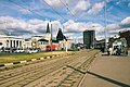 Moscow, tram tracks on Komsomolskaya Square (20625622694).jpg