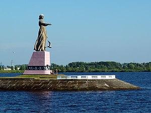 Mother Volga monument in Rybinsk.jpg