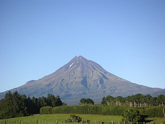 Rūaumoko - Mount Taranaki, a volcano in New Zealand. Ruaumoko is believed to cause volcanoes and earthquakes.