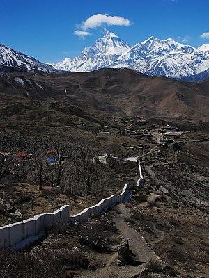 Muktinath - Muktinath and Dhaulagiri (8.167 m)