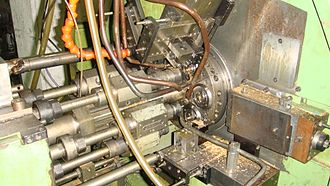 Spindle (tool) - Image: Multi spindle lathe 2