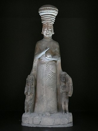 Agdistis - Phrygian statue of Kybele/Agdistis from the mid-6th century BCE at or near Hattusa