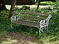 Myddelton House, Enfield, London ~ memorial bench 01.jpg