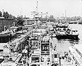 Népsziget, MHRT újpesti hajójavító üzeme. Fortepan 25651.jpg