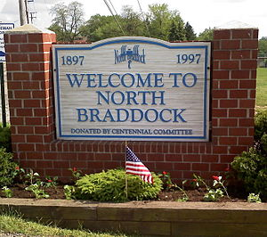North Braddock, Pennsylvania - Borough Welcome Sign