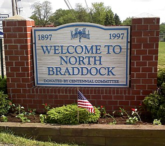 North Braddock, Pennsylvania - Borough Welcome Sign