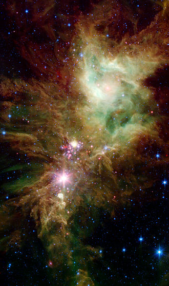 NGC 2264 - An infrared Spitzer Space Telescope image of NGC 2264
