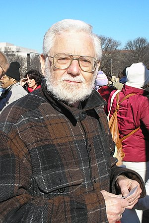 Author William Blum at an anti-war protest in ...