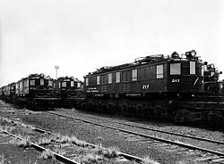 NYC-P electric locomotives at GE Erie 1954.jpg