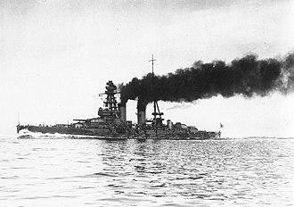 Japanese battleship Nagato - Image: Nagato 01cropped