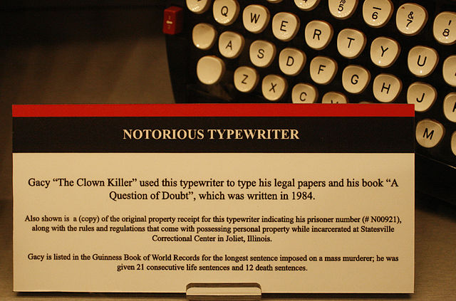 640px National Museum of Crime and Punishment   John Wayne Gacy Typewriter %282868562343%29 How Can Public Data Aid Me