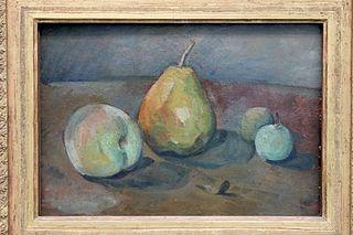 Nature morte, poires et pommes vertes