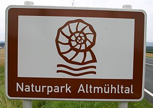 Altmühl Valley Nature Park - Tourist sign