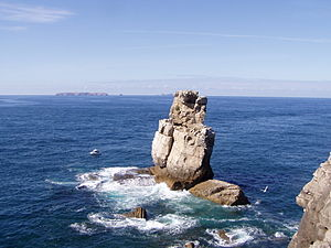 Cabo Carvoeiro - Nau dos Corvos, (Carrack of Crows) at Cabo Carvoeiro, with Berlengas in the background.
