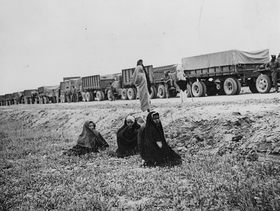 Near East Iran - truck convoy of US supplies for USSR - NARA - 195340