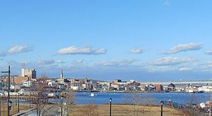 New London, Connecticut - New London Skyline from Fort Trumbull