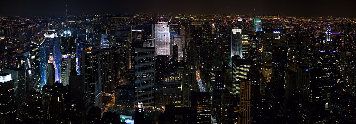 pics of new york at night. new york skyline at night