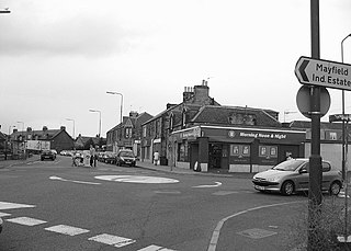 Newtongrange village in United Kingdom