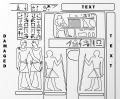 Niankhkhnum & Khnumhotep embracing at false doors in their tomb. (reconstruction drawing, large png).png