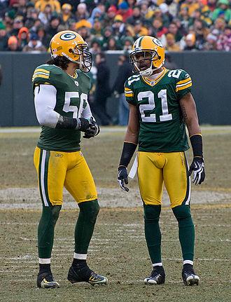 Nick Barnett - Nick Barnett and Charles Woodson at Lambeau Field.