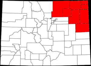 Northern Colorado - Counties involved in the proposed state of North Colorado.